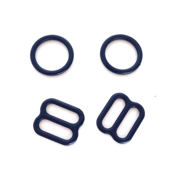 10мм Комплект металл (кольцо 2шт+регулятор 2шт) тёмно-синий (061)