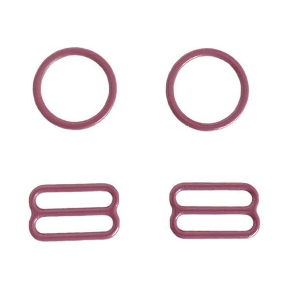 15мм Комплект металл (кольцо 2шт+регулятор 2шт) фламинго (026)