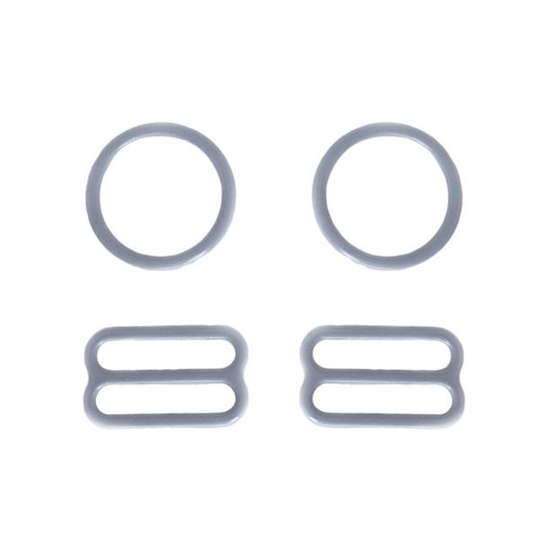15мм Комплект металл (кольцо 2шт+регулятор 2шт) св.серый (лунная скала) (2475)