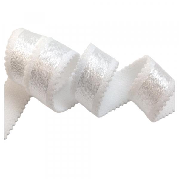 Бретелечная резинка  для бюстгальтера 20мм 507/20 белый
