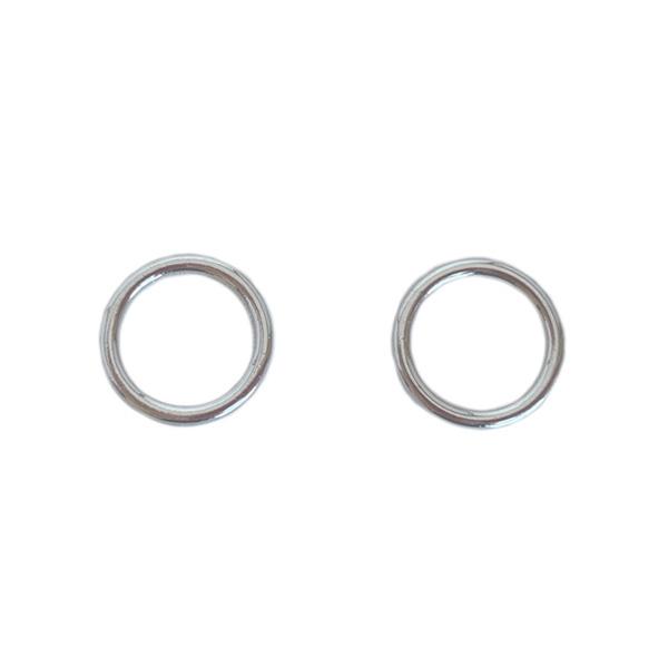 Кольца для нижнего белья и купальников 10мм серебро