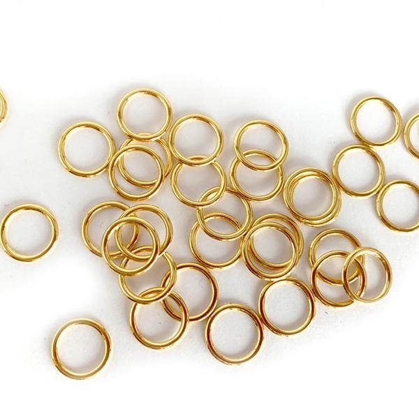 Кольцо металлическое для белья 10мм  2шт золото