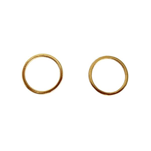 Кольцо металлическое для белья и купальников 15мм  2шт золото