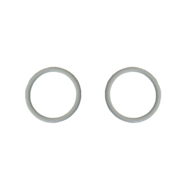 Кольцо 20мм металл 2шт белый (001)