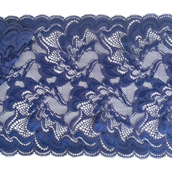 Кружево эластичное 18см темно-синий Лаума для нижнего белья