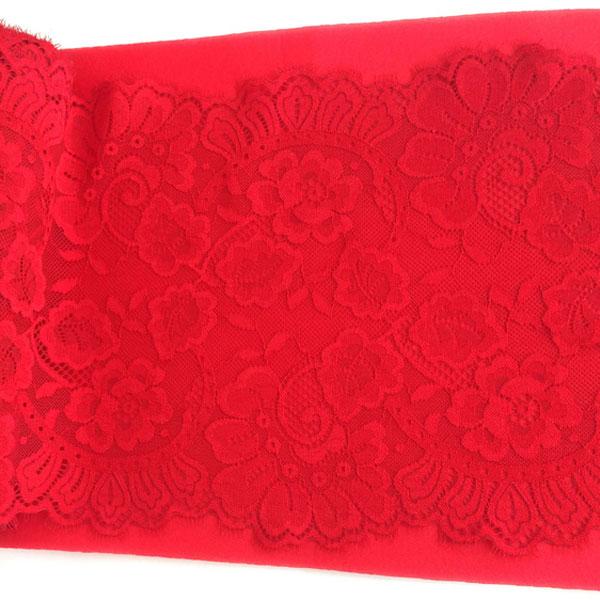 Кружево реснички 23см эластичное красный