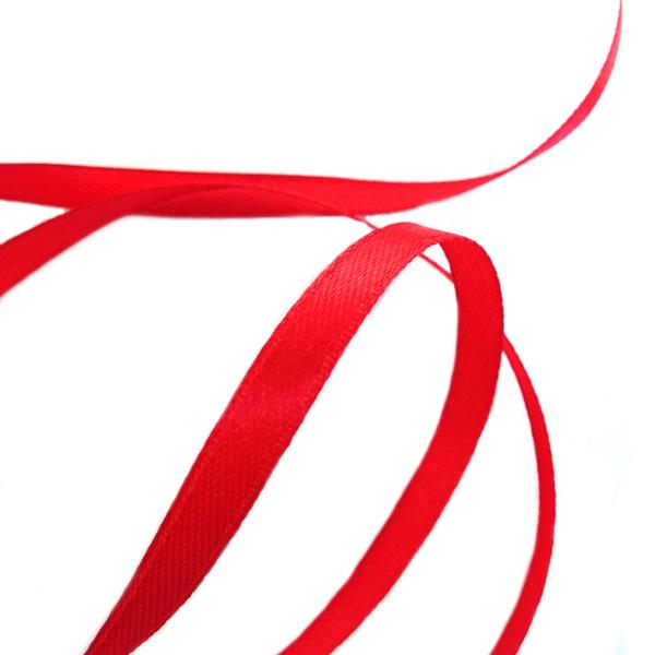Лента атласная  6мм S-820 красный
