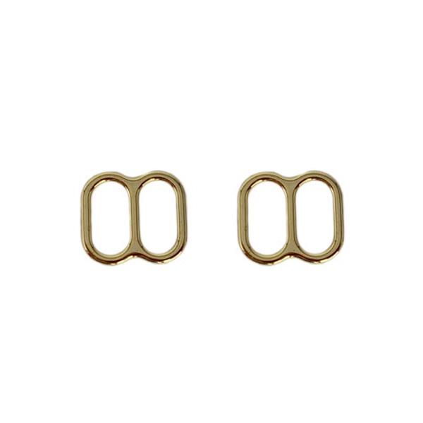 Регуляторы для купальников 10мм металлические 2шт золото