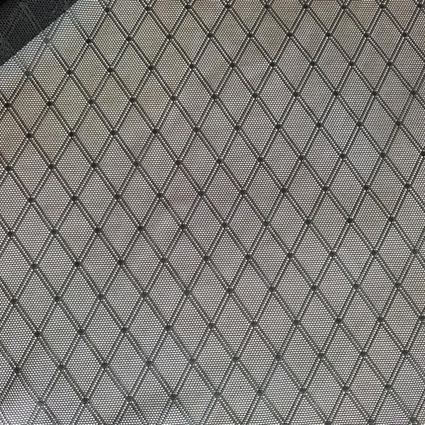 Сетка эластичная стрейч чёрный с ромбами, ш.140см, HAZEL