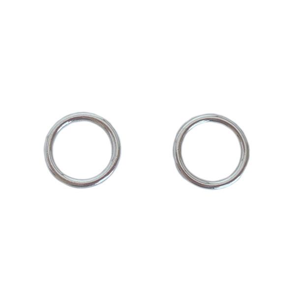 Кольцо 10мм металл 2шт белая бронза (серебро)