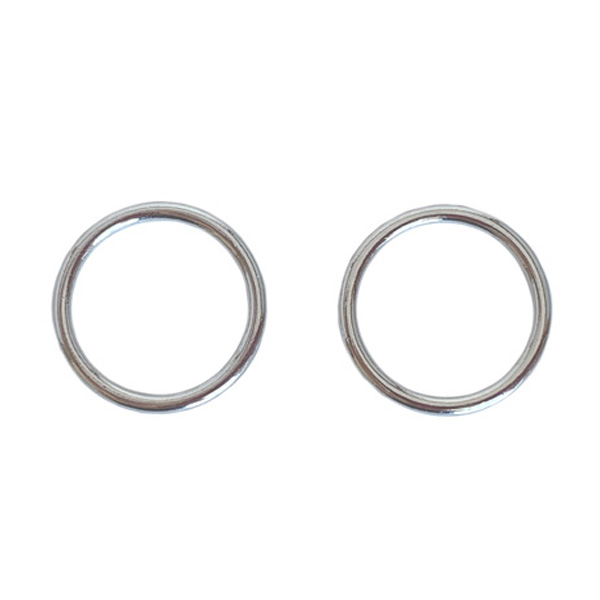 Кольцо 14мм металл 2шт белая бронза (серебристый)