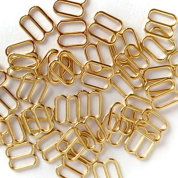 Регуляторы 10мм металл 2шт золото