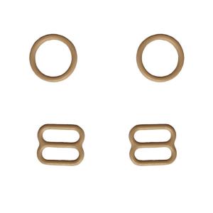 10мм Комплект металл (кольцо 2шт+регулятор 2шт) бежевый (126)