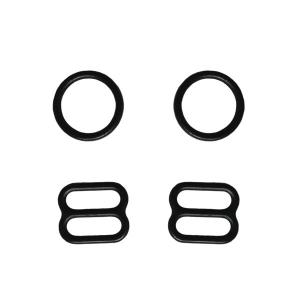 10мм Комплект металл (кольцо 2шт+регулятор 2шт) чёрный (170)