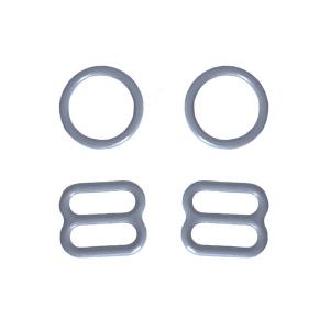 10мм Комплект металл (кольцо 2шт+регулятор 2шт) св.серый (лунная скала) (2475)
