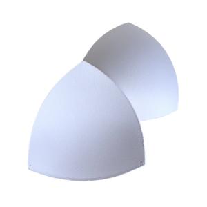 Чашки вкладыши для купальников, р.1 (36-38), треугольные, белый (001), FN-75