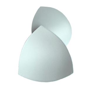 Чашки вкладыши для купальников, р.2 (40-42), треугольные, сумрачный белый (004), FN-75