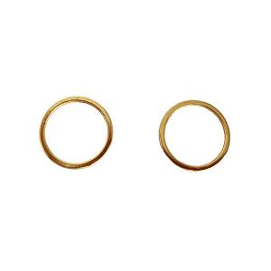 Кольцо 15мм металл 2шт золото