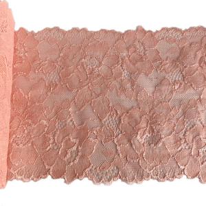 Кружево эластичное 17см розово-персиковый