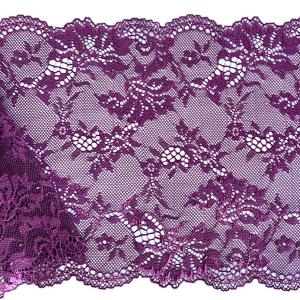 Кружево эластичное 17см пурпурный