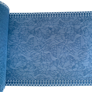 Кружево эластичное 18см голубой сумрачный HAZEL