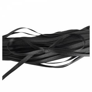 Лента атласная двухсторонняя  6мм 643/6 черный