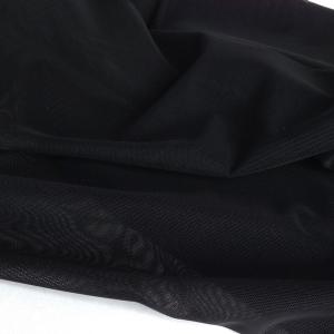 Сетка эластичная стрейч чёрный (170), ш.165см, 3001