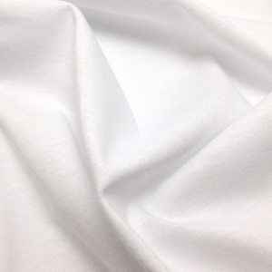 Трикотаж кулирка, 50х50см, белый (001), хлопок 100%, 120-125г/м2